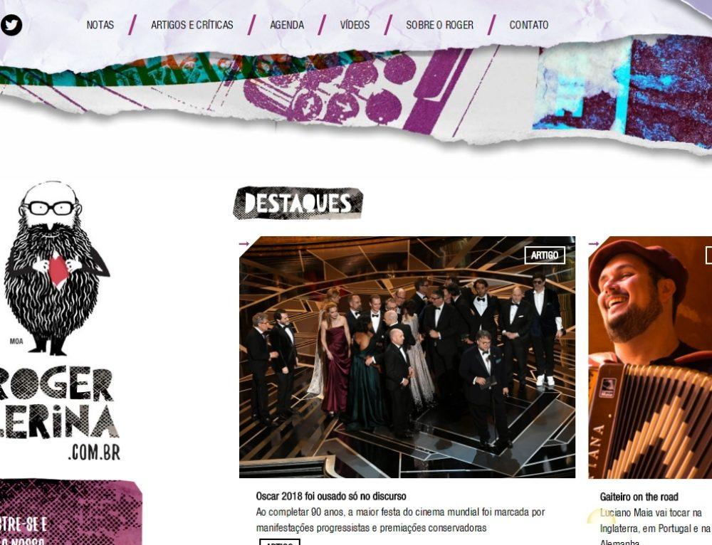 Jornalista Roger Lerina lança sua página virtual