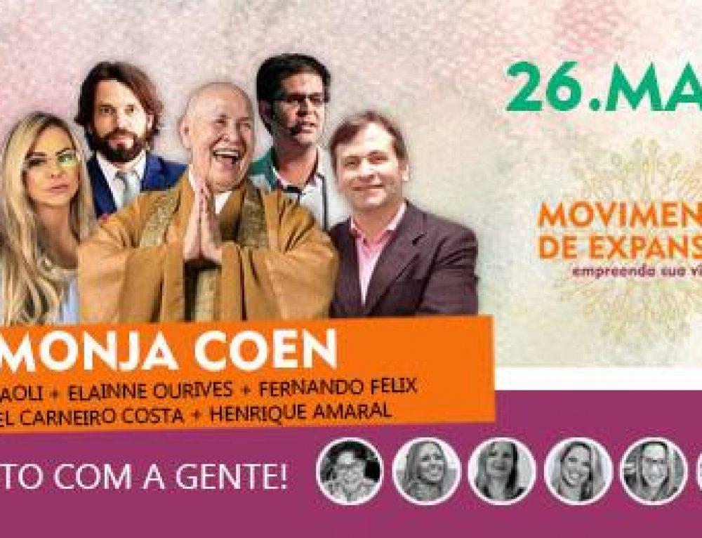 Movimento de Expansão promove encontro com Monja Coen e outros palestrantes