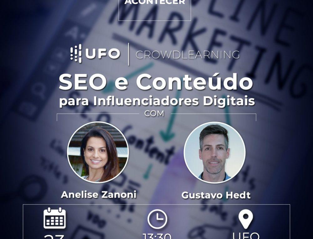 Curso de SEO para influenciadores digitais em Canoas, dia 23/03